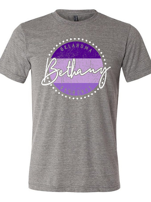 9007. Bethany Bronchos Circles-Bella Triblend-Deep Heather