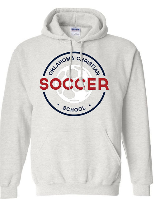 2206. OCS Soccer Circle Hoodie - Ash