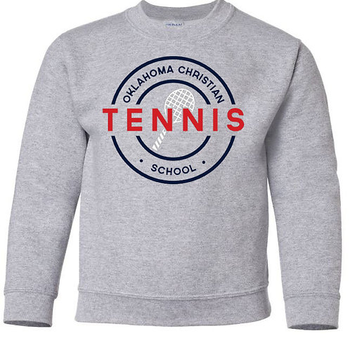 2308. OCS Tennis Circle Youth Crew Sweatshirt - Ath Gray