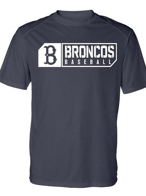 3012 - Broncos Baseball - SS Dri Fit - Navy