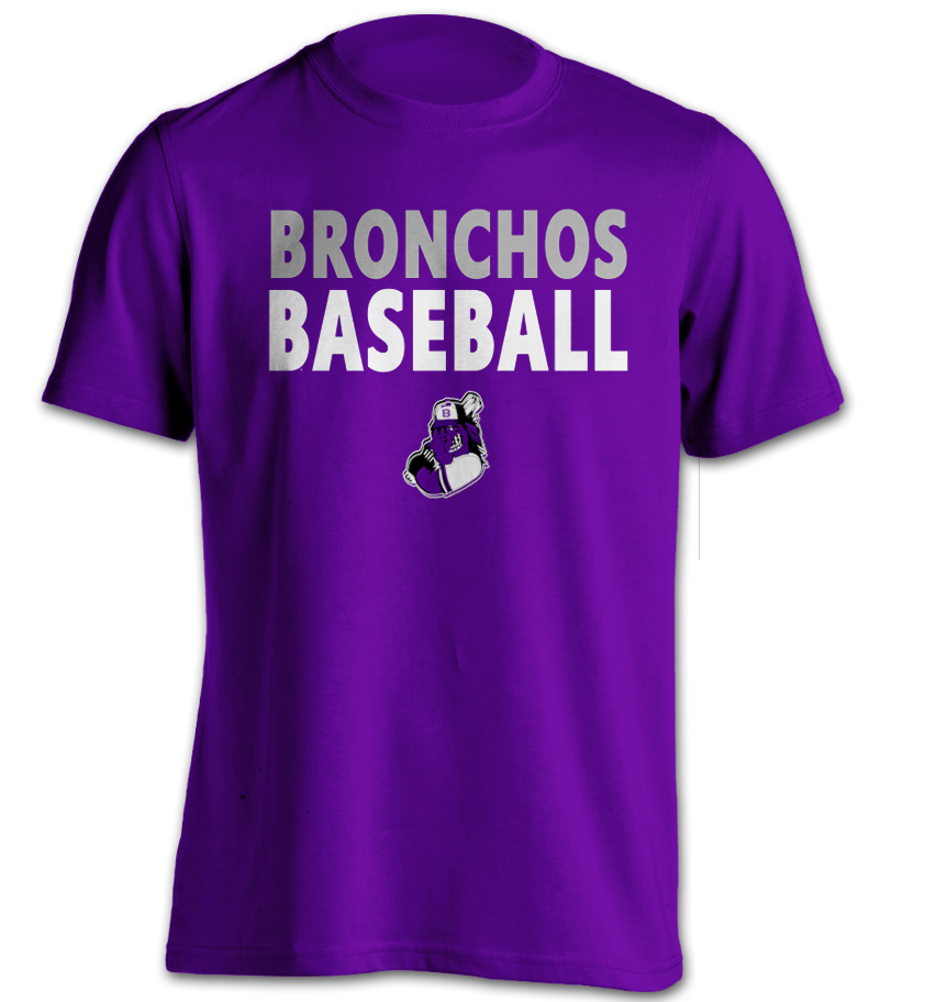 Bronchos Baseball 1-Horse - Purple