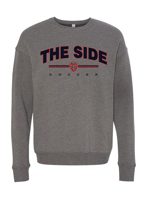 974-WSA-The Side-Bella-Heather Grey-Crew Sweatshirt