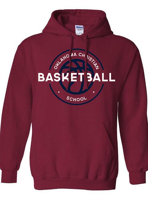 2107. OCS Basketball Circle Hoodie - Cardinal
