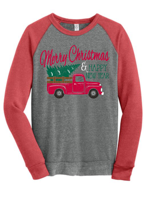 Merry Christmas Truck - Alternative Sweatshirt