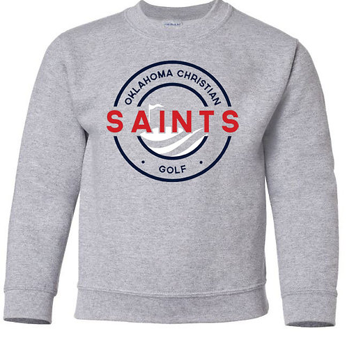 2408. OCS Golf Circle Youth Crew Sweatshirt - Ath Gray