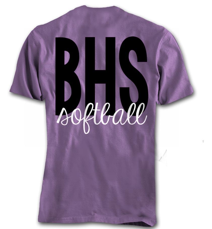 Softball Team Shirt 2015 - back