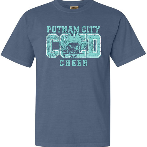 1002. PC Coed Cheer - Comfort Colors - Blue Jean