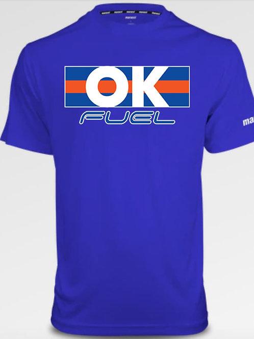 5033. OK Fuel Stripes - Marucci Performance Tee - Short Sleeve