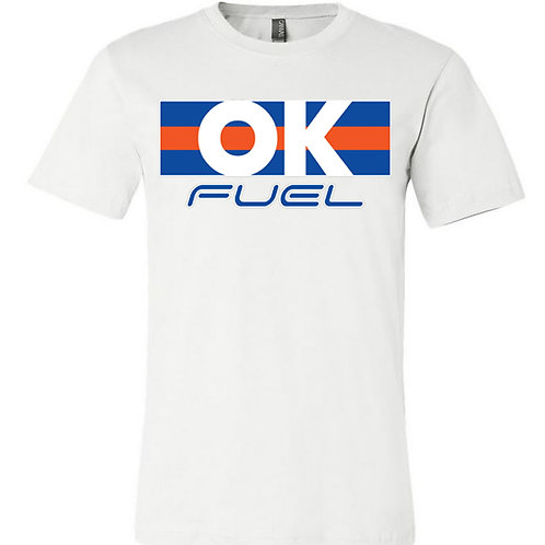5039. OK Fuel Stripes - Bella Triblend - Short Sleeve - 4-Colors Available