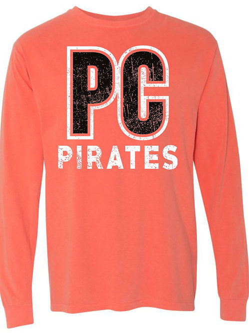 1008. PC Pirates - Comfort Colors - LS - Bright Salmon