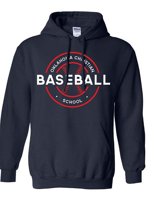 2707. OCS Baseball Circle Hoodie - Navy