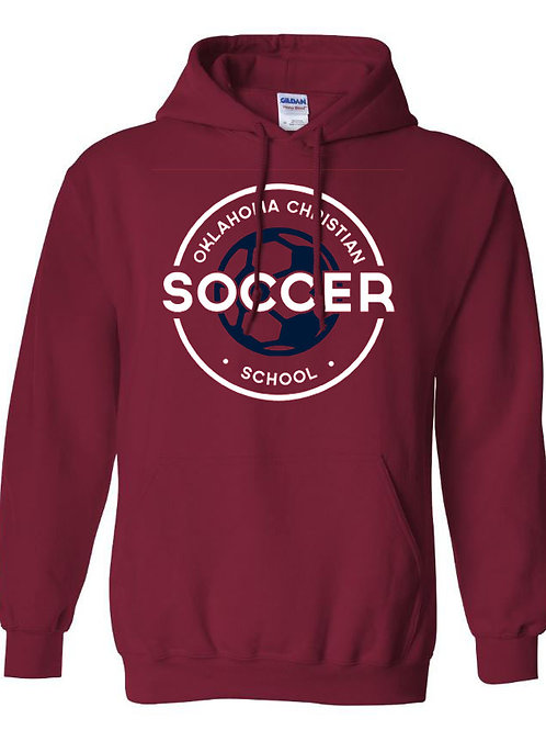 2205. OCS Soccer Circle Hoodie - Crimson