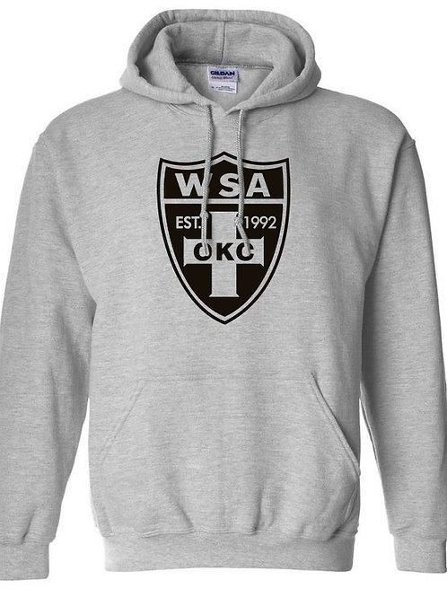 982-WSA-BLACK Shield-Gildan-Athletic Heather Grey-Hoodie