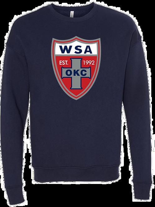 964-WSA-Shield-Bella-Navy-Crew Sweatshirt