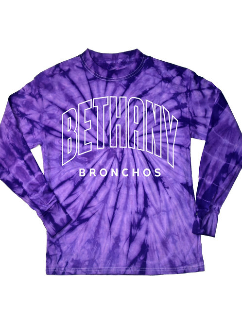 6014 - Bethany Outline Tie Dye - Long Sleeve - Purple
