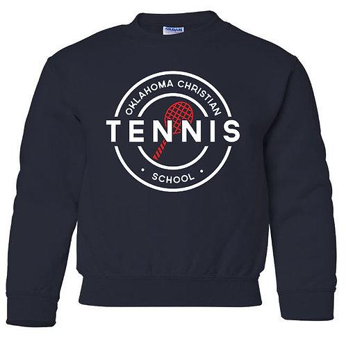 2310. OCS Tennis Circle Youth Crew Sweatshirt - Navy
