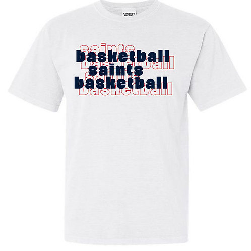 2114. OCS Basketball Stacked - Comfort Color SS - White