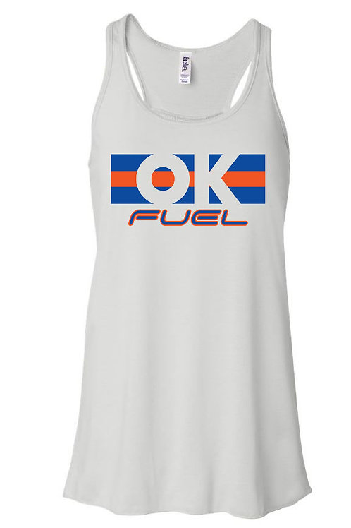 5044.  OK Fuel Stripes - Bella Flowy Tank - 4-Colors Available