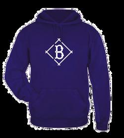 Baseball Pullover Logo - Hoodie Purple