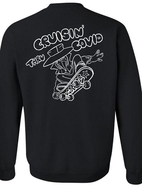 8002. Classes SAS - Crew Sweatshirt - Black