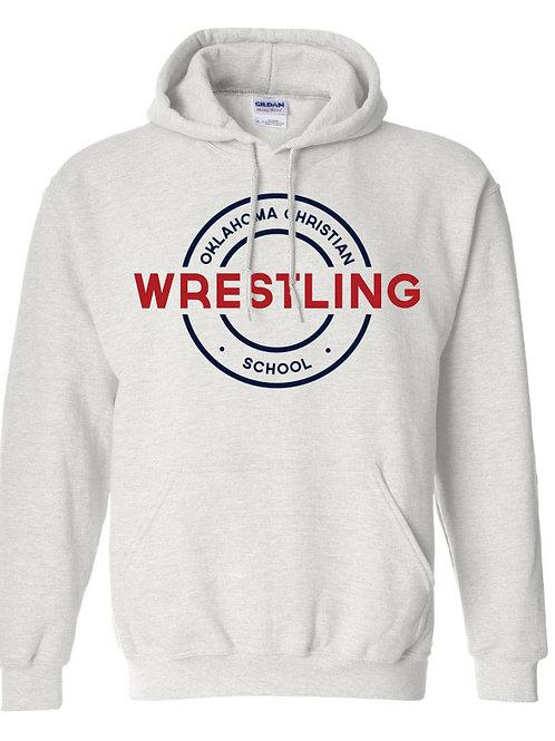2606. OCS Wrestling Circle Hoodie - Ash