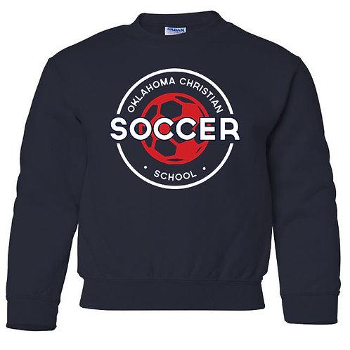 2210. OCS Soccer Circle Youth Crew Sweatshirt - Navy