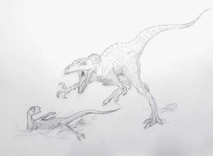 Nathan Brown- Theropod and Prey