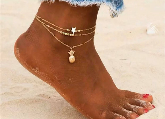 Gold Plated Ankle Chains