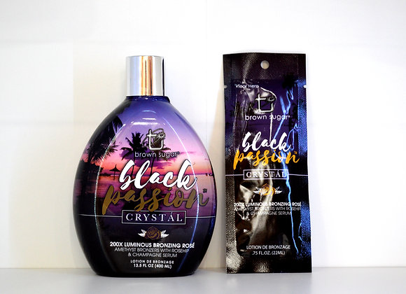 Black Passion Crystal Bronzing Lotion Bottle