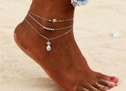 Silver Plated Ankle Chain