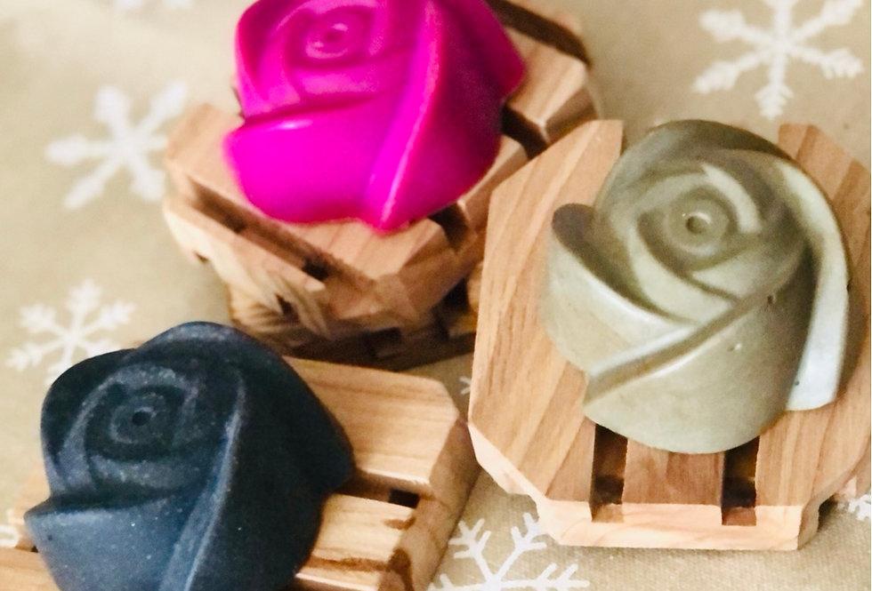 Cedar Soap Dish & Soap