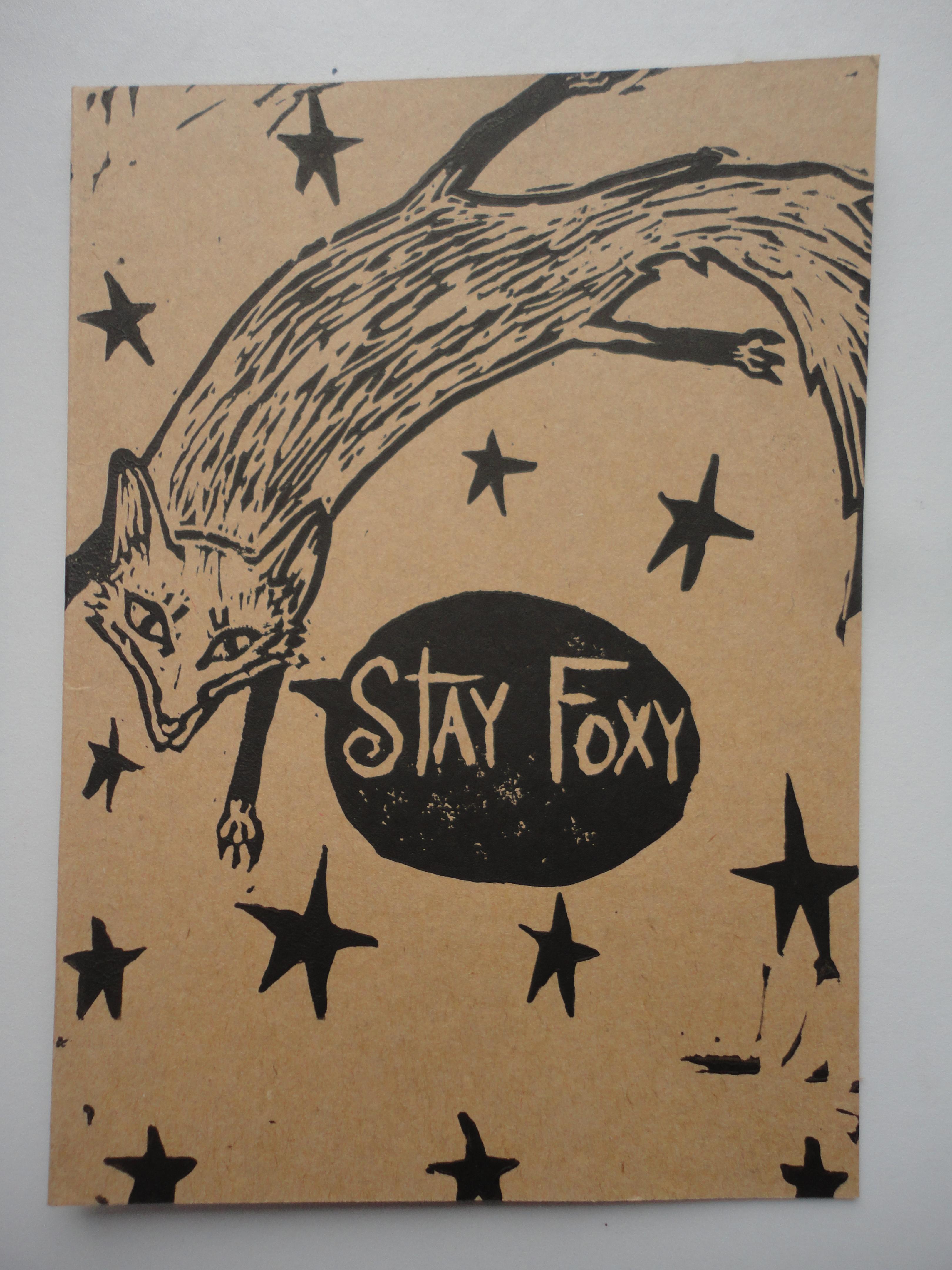 'stay foxy' card