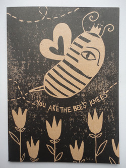 'you are the bee's knees' card