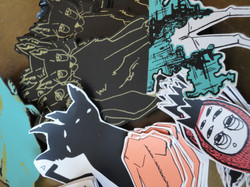 screen-printed stickers