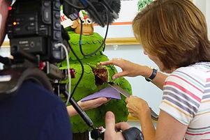 Nicky Willan being filmed cutting first
