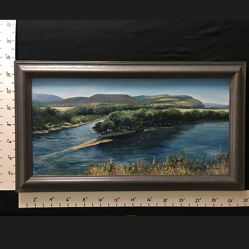 "Framed Oil ""The Confluence of the Susquehanna"""