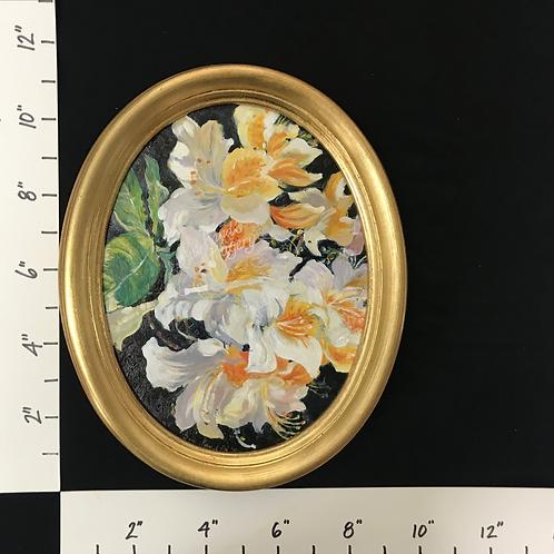 SOLD - Framed Oil Azaleas