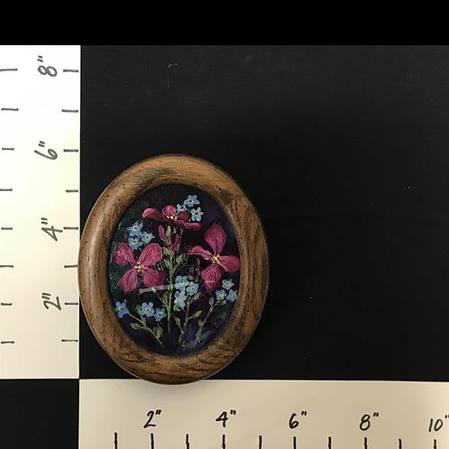 Framed Oil Dainty Bouquet