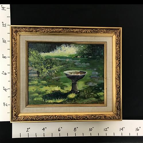 Framed Oil Garden