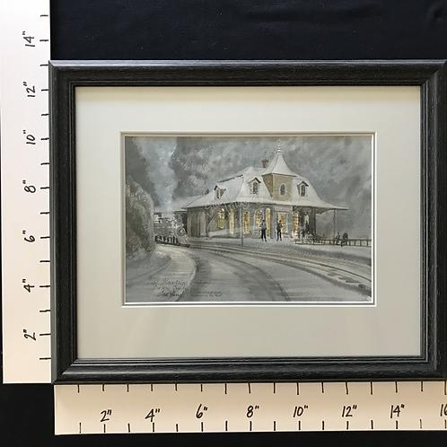 Framed Watercolor - Jim Thorpe's Bear Mountain Station