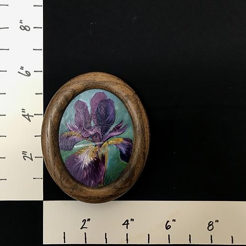 Framed Oil Iris