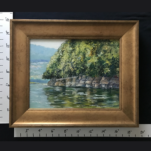 "Framed Oil ""The Rocks at Quick's Bend"""