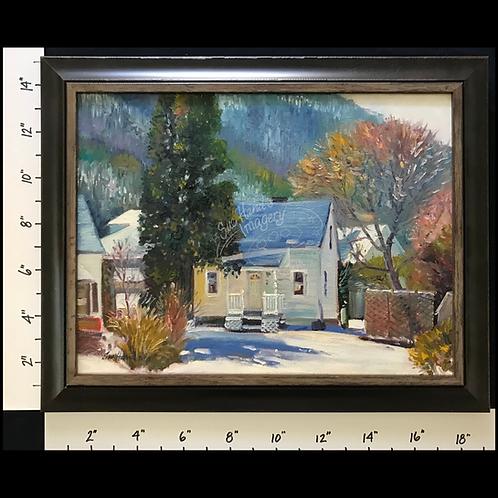 Framed Oil - Mocanaqua #13 Winter Morning on Pulaski Circle