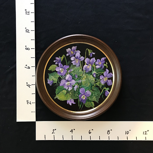 Framed Oil Violets