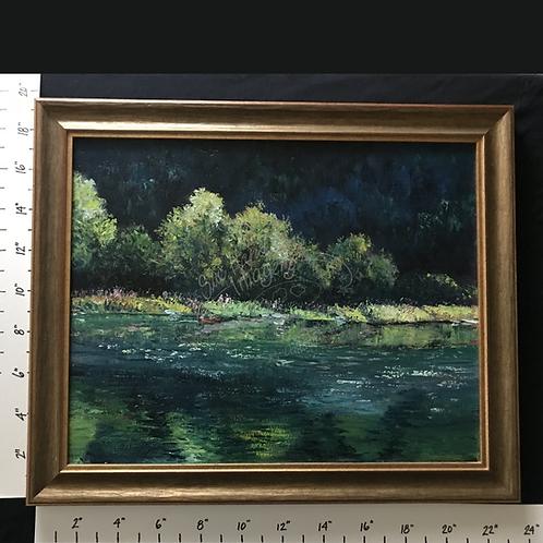 """Framed Oil """"River Currents"""""""