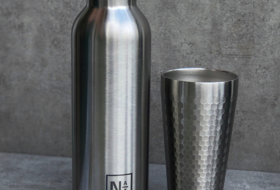 La Bouteille Isotherme NotAtAll - Pure Inox