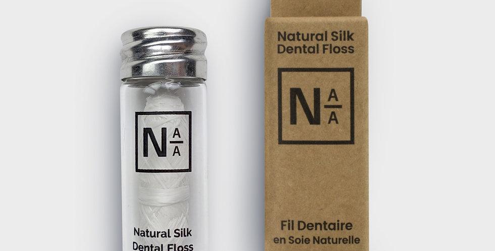 Fil Dentaire En Soie Naturelle - Flacon Verre