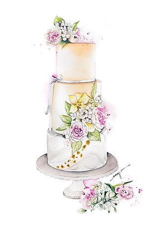Yvonne's Delightful Cake Enya Todd Painting