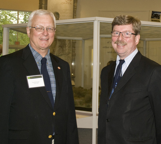 Scenic Ohio Board member Jim McGregor with Scenic Ohio Board Chair Gary Meisner