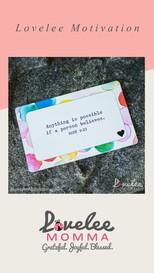 Lovelee Motivation - IG Stories - Mark 9